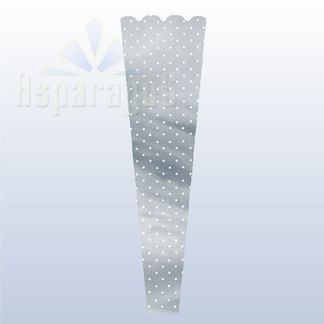 FLORAL SLEEVE SILVER 20CM/DOTTED (50PCS/PACK)