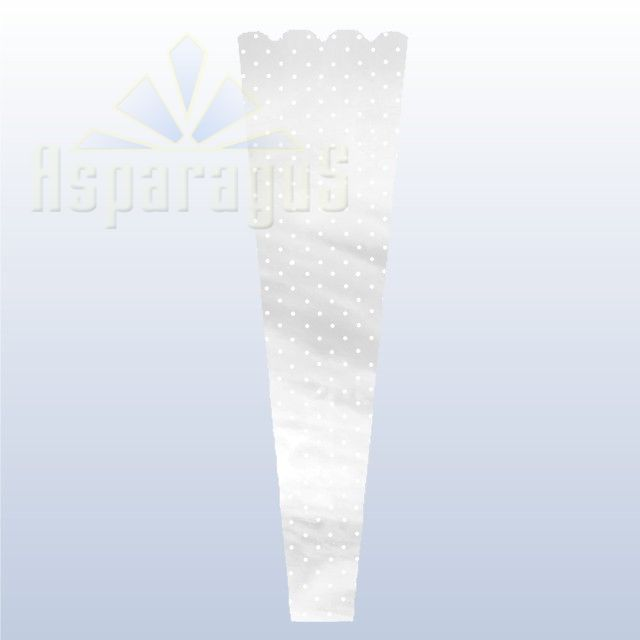 FLORAL SLEEVE NACRE 20CM/DOTTED (50PCS/PACK)