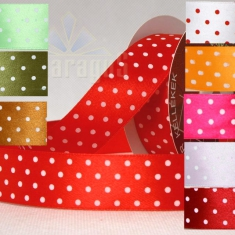 SATIN RIBBON WITH DOTS 38MMX10M