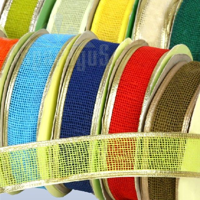 WIRED AND MESHED DECORATIVE RIBBON 3CMX10M