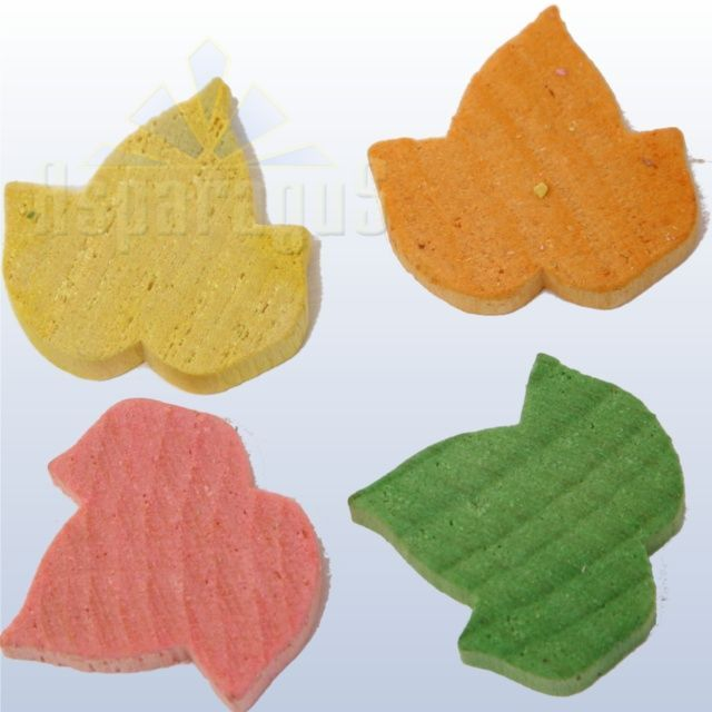 WOODEN FIGURE/TINY LEAVES (100PCS/PACK)