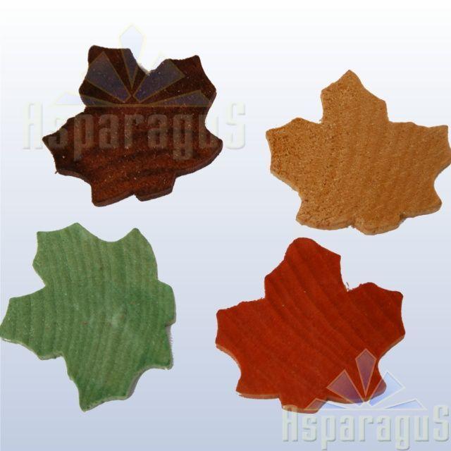 WOODEN FIGURE/LEAVES (100PCS/PACK)