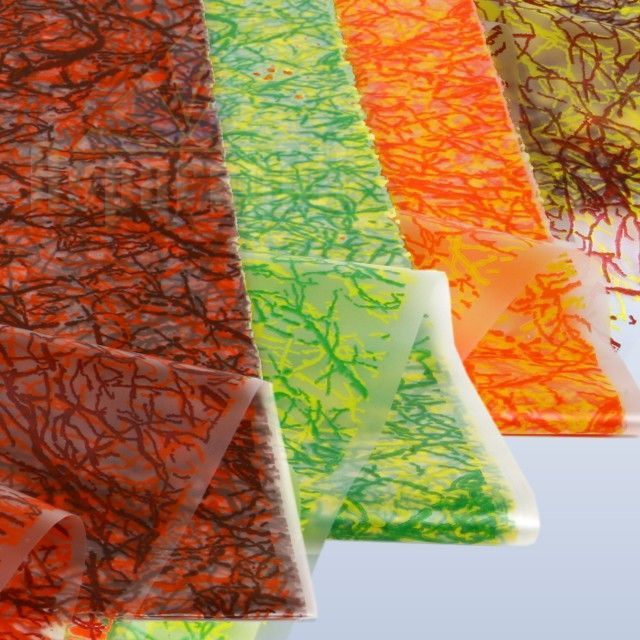MAT FOIL 70X100CM COLOUR FALLEN LEAVES (5PCS/PACK)