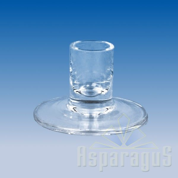 GLASS CANDLE HOLDER d:2,5cmx5cm
