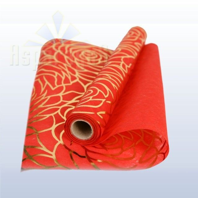 NON-WOVEN WRAPPING GOLDEN PATTERNED/RED