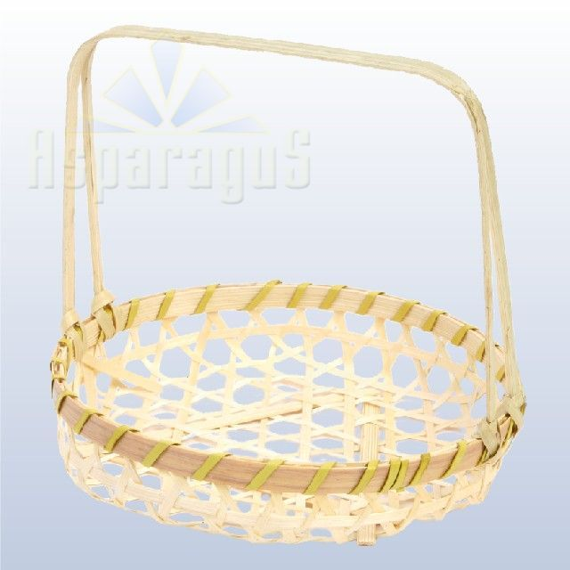 WICKER BASKET D16X3,5CM HANDLE:15CM/NATURAL