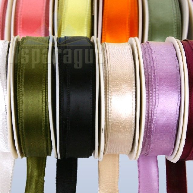 SATIN RIBBON WIRED 25MMX10M