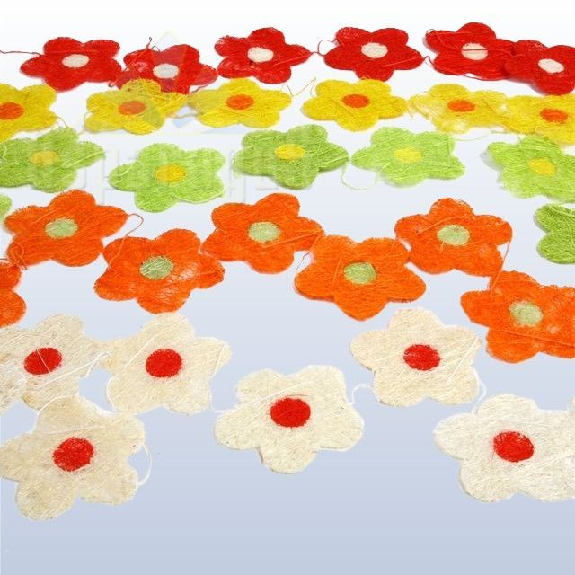 SIZAL FLOWER FESTOON 5PC/SET