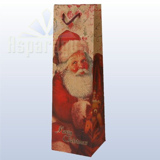 PAPER BAG WITH HANDLES/RED (10X11X36CM)
