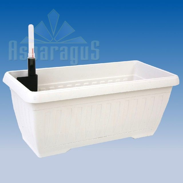 BALCONY FLOWER BOX WITH SELF WATERING SYSTEM 40CM / WHITE