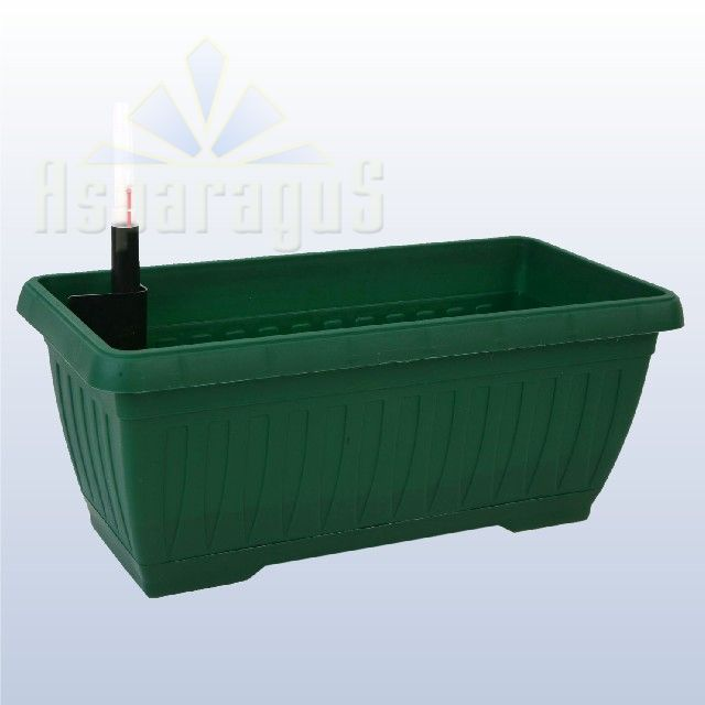 BALCONY FLOWER BOX WITH SELF WATERING SYSTEM 40CM / GRASS GREEN