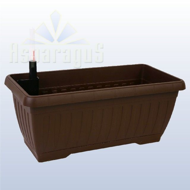 BALCONY FLOWER BOX WITH SELF WATERING SYSTEM 40CM / BROWN