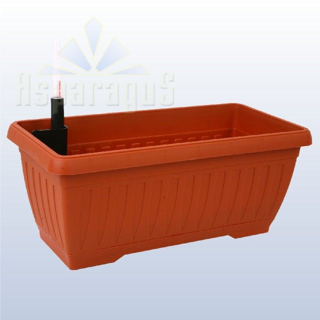 BALCONY FLOWER BOX WITH SELF WATERING SYSTEM 40CM / TERRACOTTA