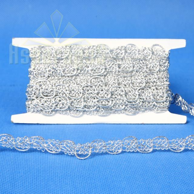 DECORATIVE RIBBON 10MMX5Y / SILVER
