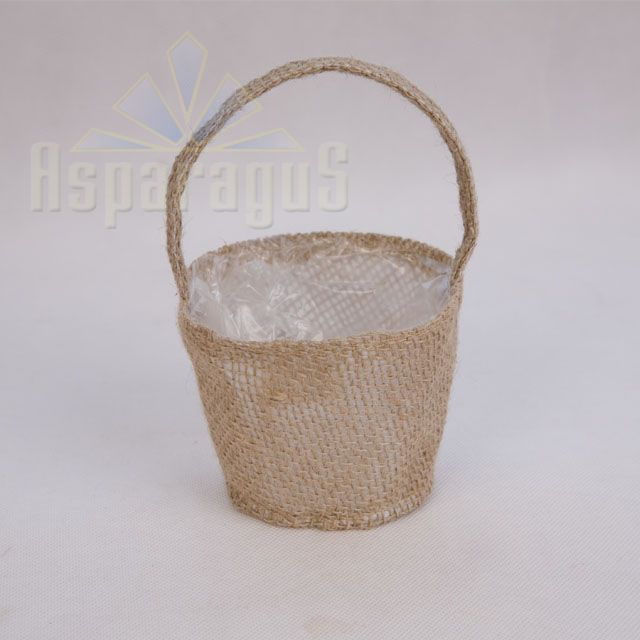 JUTE POT WITH HANDLE